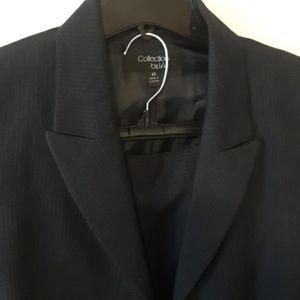 LeSuit Navy Blue Pinstripe Business Pants Suit